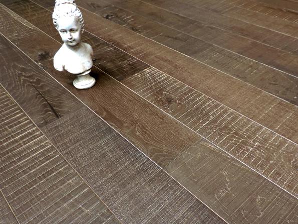 Oak DuoPlank sawmarks 14x125mm mat lacquer Daytona Grey