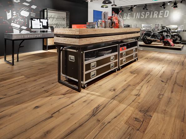 Oak reclaimed 17x215mm inside oil natural interieur